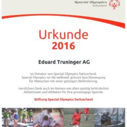 Truninger supports Special Olympics Switzerland